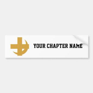 Croix et croissant de Chi de lambda alpha Autocollant De Voiture