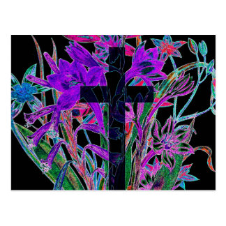 Croix et fleurs par Amelia Carrie Carte Postale