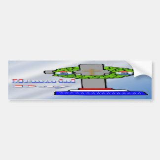 Croix et guirlande - adhésif pour pare-chocs de Jo Autocollants Pour Voiture
