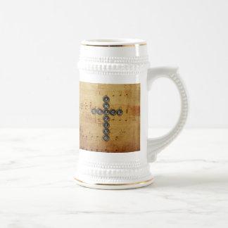 Croix extraordinaire de grâce sur la feuille de chope à bière