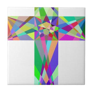 Croix géométrique prismatique carreau