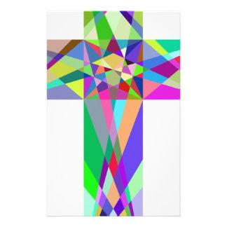 Croix géométrique prismatique papeterie