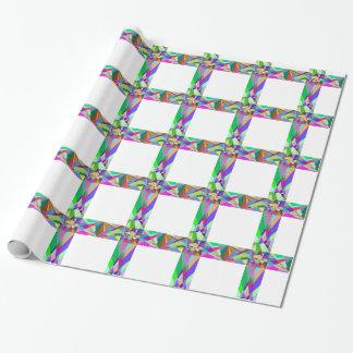 Croix géométrique prismatique papier cadeau