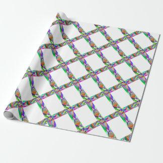 Croix géométrique prismatique papier cadeau noël