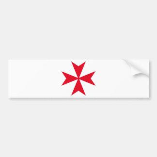 croix maltaise autocollant de voiture