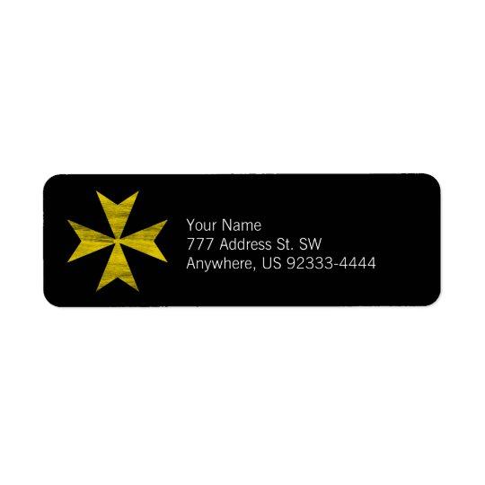 Croix maltaise étiquettes d'adresse retour