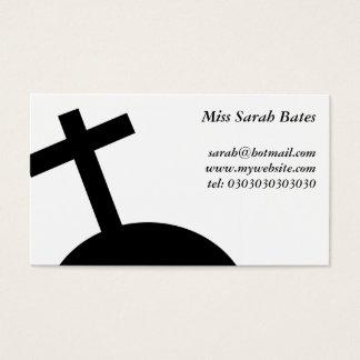 Croix noire cartes de visite