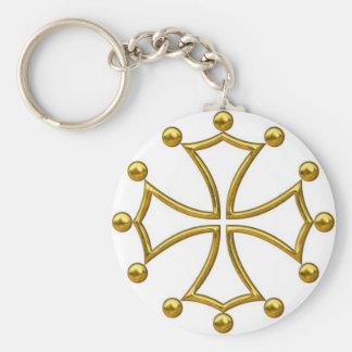 croix occitane porte-clé rond