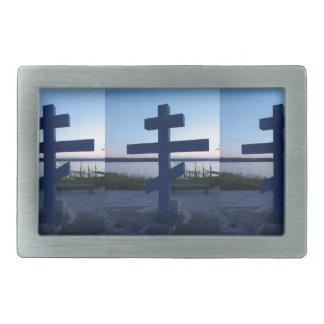 Croix orthodoxe russe boucles de ceinture rectangulaires