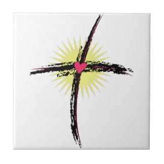 Croix religieuse carreau