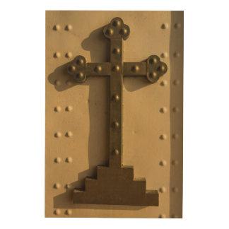 Croix religieuse chrétienne, Irak Impression Sur Bois
