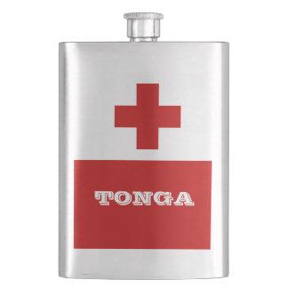 Croix-Rouge de drapeau d'île du Tonga Flasque