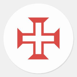 croix rouge de templar sticker rond. Black Bedroom Furniture Sets. Home Design Ideas