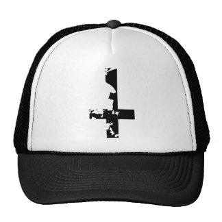 Croix satanique casquettes de camionneur