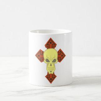 Croix tête de mort crâne croix skull mug blanc