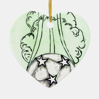Croquis 3 de ballon de football ornement cœur en céramique