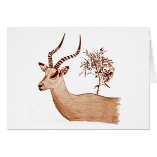 Croquis animal de dessin de faune d'antilope cartes