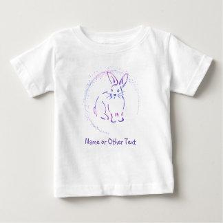Croquis bleu/pourpre de lapin avec votre propre t-shirt pour bébé