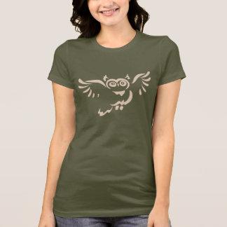 Croquis bronzage de hibou de vol sur Madame T-shirt