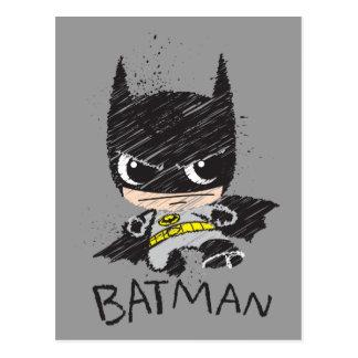 Croquis classique de Chibi Batman Cartes Postales