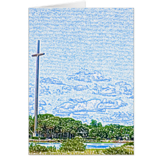 croquis croisé St Augustine la Floride de paysage Carte De Vœux