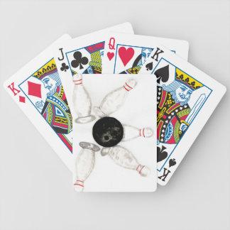 Croquis de boule de bowling jeu de poker