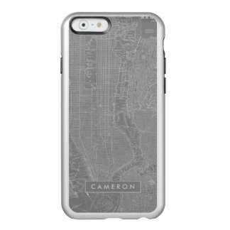 Croquis de carte de New York City Coque iPhone 6 Incipio Feather® Shine
