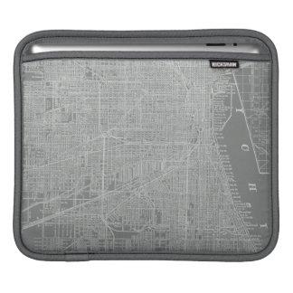 Croquis de carte de ville de Chicago Poches Pour iPad