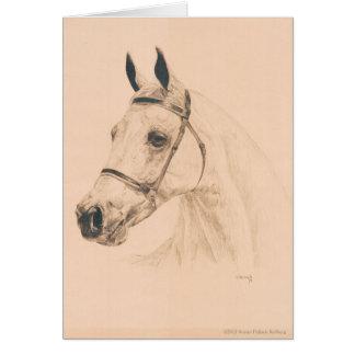 Croquis de cheval par Susan Pelisek Kolberg Carte De Vœux