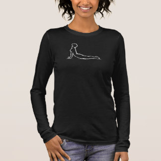 Croquis de cobra de pose de yoga t-shirt à manches longues