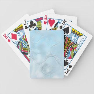 Croquis de fleur de deux tulipes dans le bleu jeu de cartes