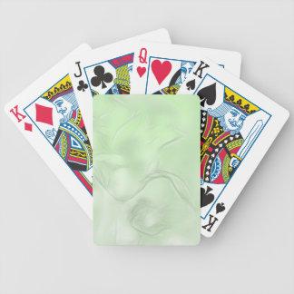 Croquis de fleur de deux tulipes en vert jeu de cartes