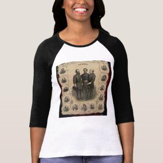 Croquis de héros de guerre civile t-shirt