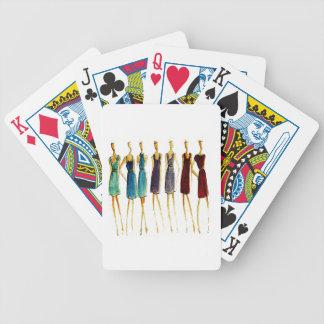 Croquis de mode cartes à jouer
