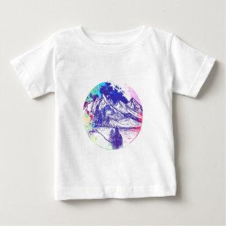 Croquis de montagne t-shirt pour bébé