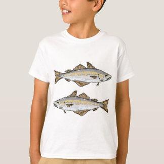 Croquis de poissons de colin t-shirt