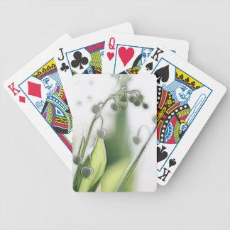 Croquis de répétition de fleur du muguet jeux de cartes