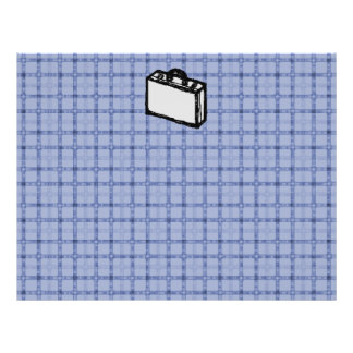 Croquis de valise de serviette ou de voyage de bur prospectus
