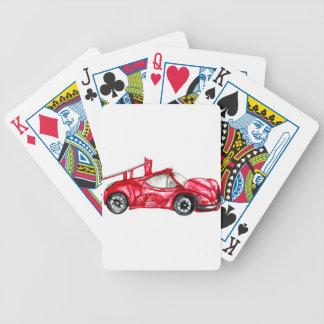 Croquis de voiture de sport jeux de cartes