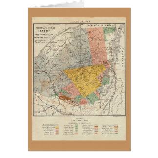 Croquis d'enquête d'Adirondack - carte de