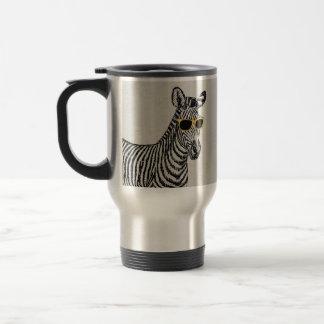 Croquis drôle mignon frais de zèbre avec les verre tasse