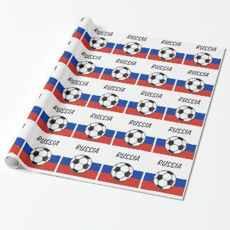 Croquis du football du drapeau   de Russa Papier Cadeau