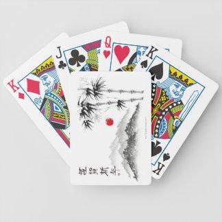 Croquis du paysage jeu de cartes
