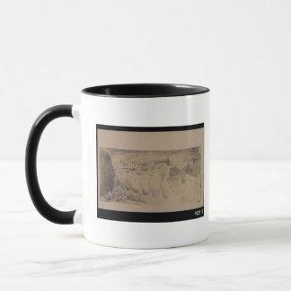 Croquis d'un magasin avec neuf amphorae géants mug