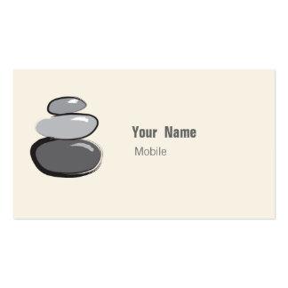 Croquis en pierre empilé par zen carte de visite standard
