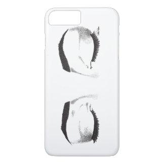 Croquis femelle de yeux (personnalisable) coque iPhone 7 plus