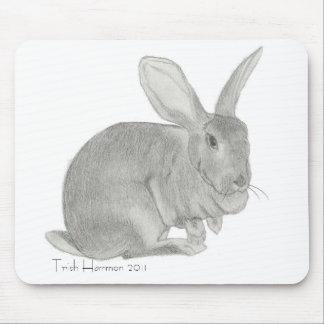 Croquis géant flamand de lapin tapis de souris