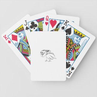 Croquis impuissant d'oiseau jeux de cartes