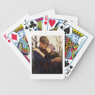 """Croquis pour le """"fiancé"""" (huile sur la toile) jeux de cartes"""