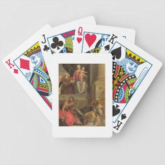 Croquis pour le retable de Bevilacqua Cartes À Jouer